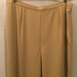 "🌸34"" Tan Wide Leg Career Dress Pants Slacks EUC🌸"